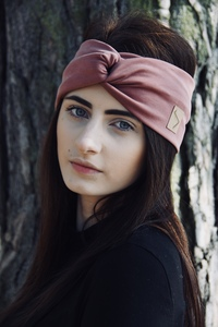 Stirnband im Turbanlook - Vintage Rose - dreisechzig
