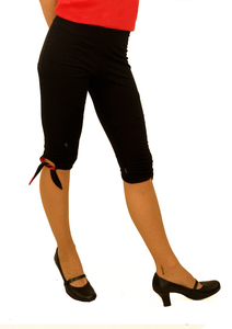LASALINA- 2inONE Legging mit Schliefen. In Farbe oder Schwarz  - LASALINA