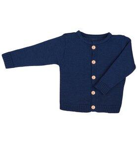 fb2f60d45e Baby u. Kinder Strickjacke dunkelblau Bio Baumwolle iobio - iobio