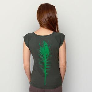'Seeschnecke' Bamboo Jersey T-Shirt  - shop handgedruckt