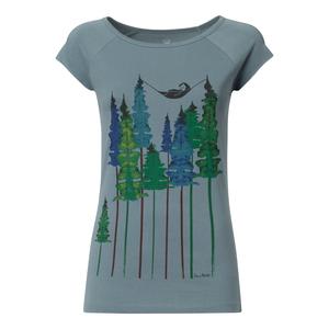 Wood Cap Sleeve T-Shirt Damen hellblau Bio & Fair - FellHerz