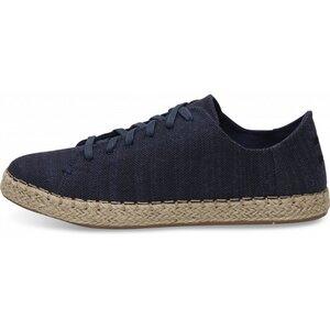 Navy Slubby Leinen Lena Alpargata-Sneaker - Toms