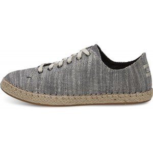 Black Slubby Leinen Lena Alpargata-Sneaker - Toms