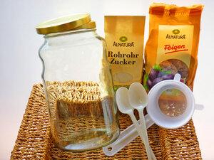 Wasserkefir - Komplettpaket für 2,5 Liter: Bio Wasserkefir mit Zubehör - Wellness-Drinks