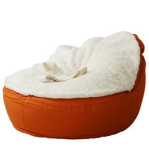Babysitzsack Bio Plüsch Auflage mit Haltegurt & Höschen - Safety - Baby EcoEgg®