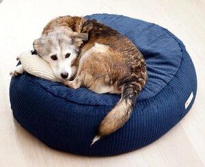 orthopädisches Hundebett aus Cord STOCKHOLM in M - Grüne Pfote®