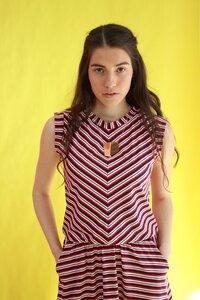 Gestreiftes Jerseykleid Mayla mit Taschen - ManduTrap