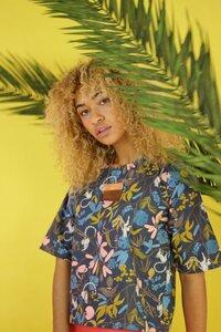 Shirt Olivia, gemustertes Baumwoll Top - ManduTrap