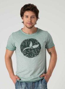 Raw-edge T-Shirt aus Bio Baumwolle mit Logo Print - ORGANICATION