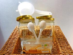Kefir - Komplettpaket für 1 Liter: Bio Milchkefir mit Zubehör - Wellness-Drinks
