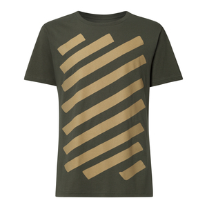 Graffstripes T-Shirt Herren olivgrün Bio & Fair - THOKKTHOKK