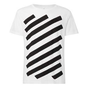 Graffstripes T-Shirt Herren weiß Bio & Fair - THOKKTHOKK