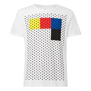 Rasterblock T-Shirt Herren weiß Bio & Fair - THOKKTHOKK