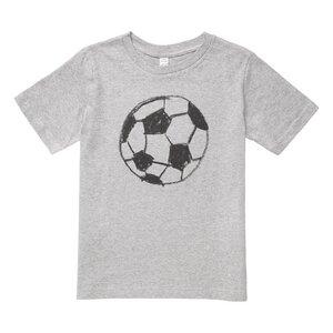 Fußball Kinder T-Shirt schwarz//hellgrau melange Bio & Fair - THOKKTHOKK