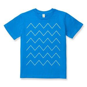Thin ZigZag Kinder T-Shirt weiß/blau Bio & Fair - THOKKTHOKK