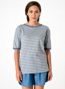 Gestreiftes Rundhals 1/2 Arm T-Shirt aus Bio Baumwolle - ORGANICATION