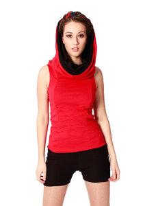 4inONE Original- Kleid und Oberteil in Einem - Schwarz und Rot - LASALINA