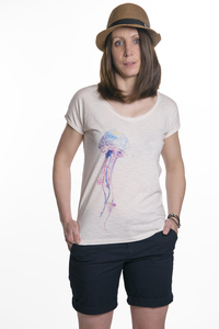 "Damen T- Shirt ""ELQualle"" in vintage white - ecolodge fashion"