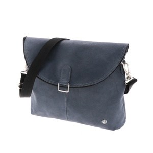 Paso Doble Schultertasche und Rucksack aus Ökoleder- graublau - MoreThanHip