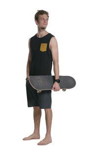 Herren Tank Top 'SKATEPARK' black - ecolodge fashion
