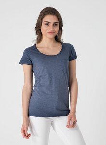 Raw-edge T-Shirt aus Bio Baumwolle mit Brusttasche - ORGANICATION