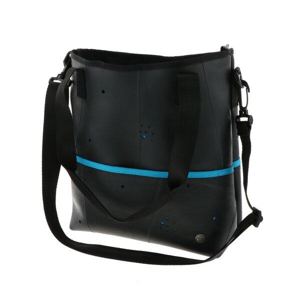97b16f67829e9 MoreThanHip - Zina - Damen-Schultertasche und Handtasche in einem - Türkis  mit abnehmbaren Schulterriemen