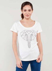 T-shirt aus Bio-Baumwolle mit Elefanten Stickerei - ORGANICATION