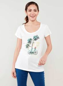 Baum & Bike print T-shirt aus 100% Bio Baumwolle - ORGANICATION