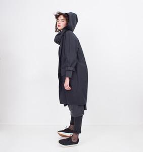 Lea Regenmantel Damen paleblack - Iksi - XXII Streetwear