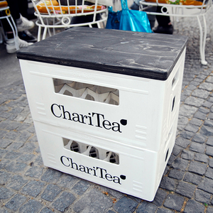 ChariTea, Hocker schwarz - LemonAid