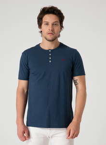 Henleyshirt aus Bio Baumwolle mit Knopfleiste - ORGANICATION