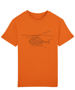T-Shirt mit Motiv / Helikopter - Kultgut