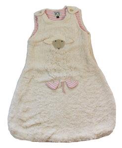 "Babyschlafsack ""Schaf"" rosa/natur-gestreift  , 100 % Baumwolle (kbA) - PAT & PATTY"