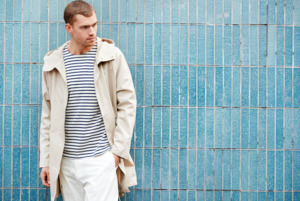 Long twill jacket - Light feather gray - KnowledgeCotton Apparel