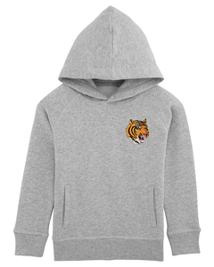 "Kinder Hoodie aus Bio-Baumwolle ""Wild Tiger"" - University of Soul"