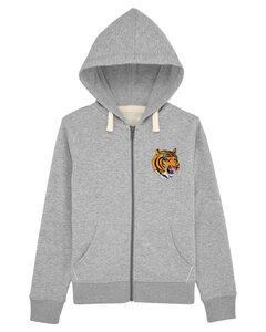 """Kinder Hoodie mit Zip aus Bio-Baumwolle """"Wild Tiger"""" - University of Soul"""
