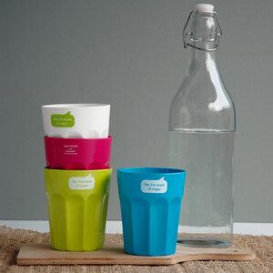 Partybecher-Set aus Pflanzenzucker - 100% biologisch abbaubar. - Zuperzozial