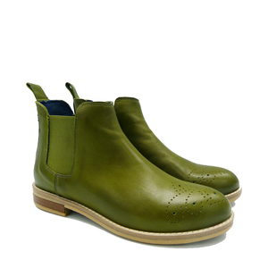 SCHUHMANN´S Bestseller Chelseaboot   grüne olive - SCHUHMANN`S
