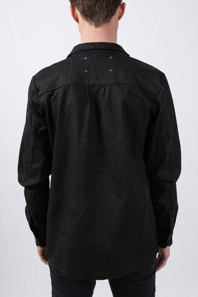 wiederbelebt jeansjacke oversized pocket schwarz. Black Bedroom Furniture Sets. Home Design Ideas