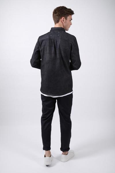 wiederbelebt jeansjacke oversized pocket blau. Black Bedroom Furniture Sets. Home Design Ideas
