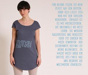 T-Shirt Kleid 'Fische-Beifang' - Lena Schokolade