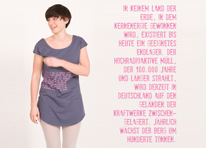 T-Shirt Kleid 'Endlager' - Lena Schokolade