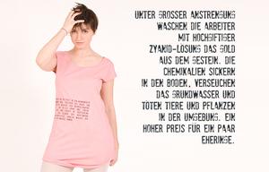 T-Shirt Kleid 'Gold' - Lena Schokolade