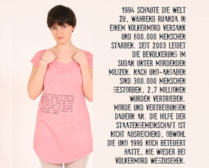 T-Shirt Kleid 'Völkermord' - Lena Schokolade