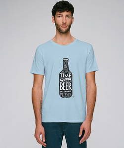 T-Shirt mit Motiv / Time for a Beer - Kultgut