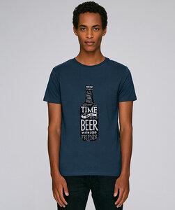 T-Shirt mit Motiv / Time for a Beer - Kultgut