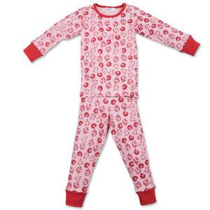 Pyjama rosa mit Tieren, kbA - Cotton People Organic