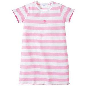 Nachthemd Rosa-Weiß gestreift mit Schleife - Cotton People Organic