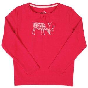 Langarmshirt in Pink mit Blümchendruck, kbA - Kite Kids
