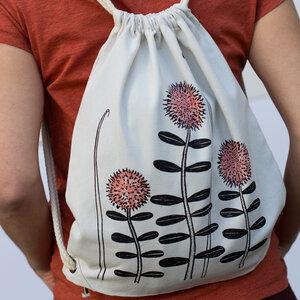Waldblumen Beutel / Gymbag in natur weiß - Cmig